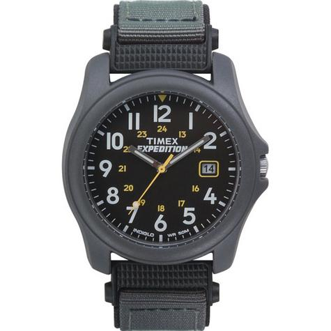 Timex T42571 Expedition Camper Watch|Black Dial|Analogue Display|Grey Fast Strap Thumbnail 1