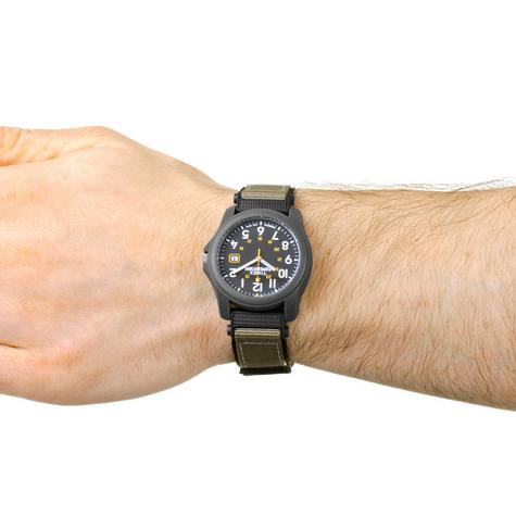 Timex T42571 Expedition Camper Watch|Black Dial|Analogue Display|Grey Fast Strap Thumbnail 2