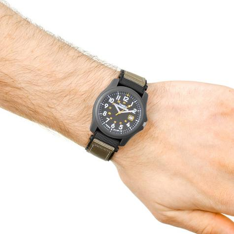 Timex T42571 Expedition Camper Watch|Black Dial|Analogue Display|Grey Fast Strap Thumbnail 3