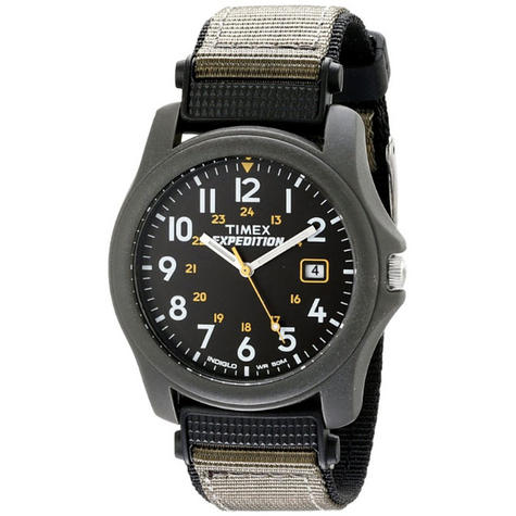 Timex T42571 Expedition Camper Watch|Black Dial|Analogue Display|Grey Fast Strap Thumbnail 4