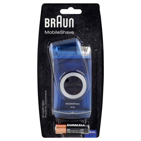 Braun M60b Mens Pocket Mobile Portable Battery Travel Electric Shaver Razor NEW Thumbnail 2