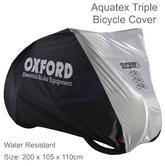 Oxford AQUATEX Outdoor Waterproof Bike Cover for Three Bikes | 200 x 105 x 110cm | Silver