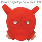 Oxford Bright Eye Bone Head LED Bicycle Bike Cycle Front Light - Red - LD665RR