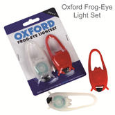 Oxford Bike Cycle Frog-Eye Light Set | Front White & Rear Red Twin LEDs | LD666