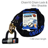 Oxford Heavy Duty Bike Cycle Bicycle Solid Secure Chain10 Padlock - 1.4m | LK144