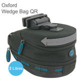 Oxford OF712 Bike/ Cycling Wedge QR Saddle Bag?Adjustable QR Clip?2 Litres?Black