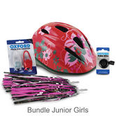 Oxford Mini/ Junior Girls Cycle Bundle Helmet/ Lights/ Bell + Streamers|For the Little Cyclist