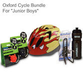Oxford Junior Boys Cycle Bundle - Helmet/ Lights/ Bottle Holder & Bottle