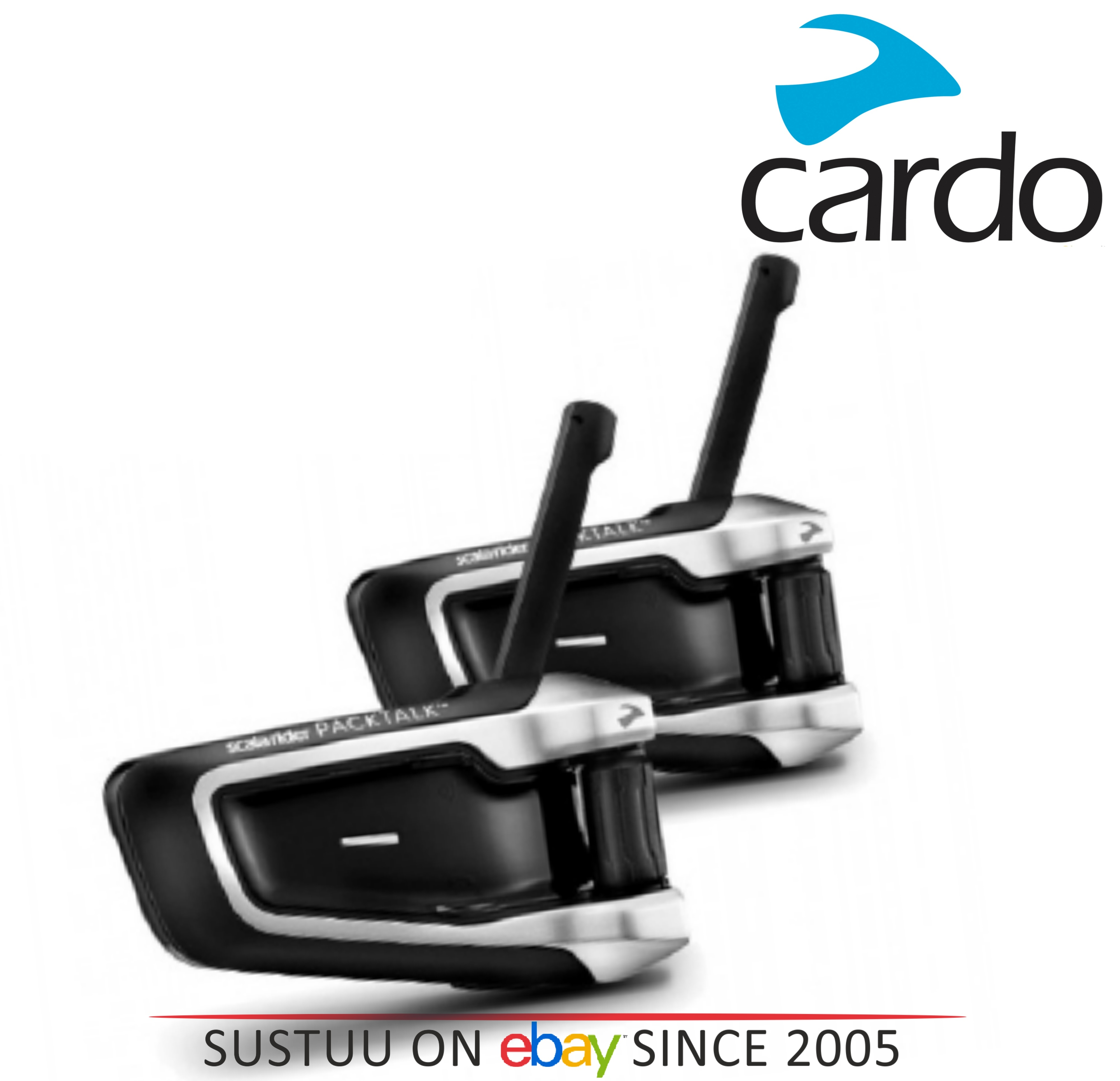 Cardo Scala Rider PackTalk|Duo MotorCycle Handsfree|2xBluetooth-Intercom-Headset