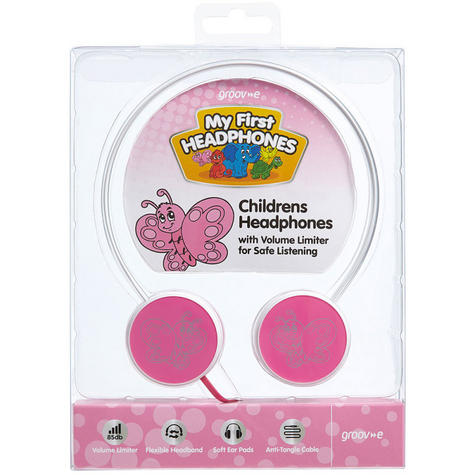 Groov-e Kids Children's Toy Playtime Noise Limited Fairy Pink Over Ear Earphones Thumbnail 3