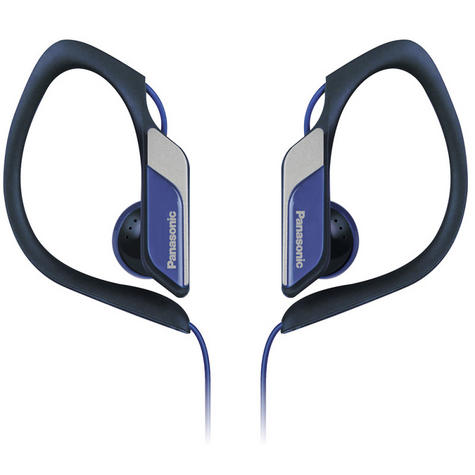 Panasonic Water & Sweat Resistant Sports Earbud Headphones - Blue  RPHS34/BLUE Thumbnail 1