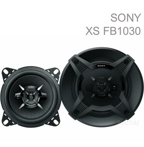 Sony XS FB1030 10cm 3 Way 440Watts With Extra Bass Car Van Door Dash Speakers Thumbnail 1