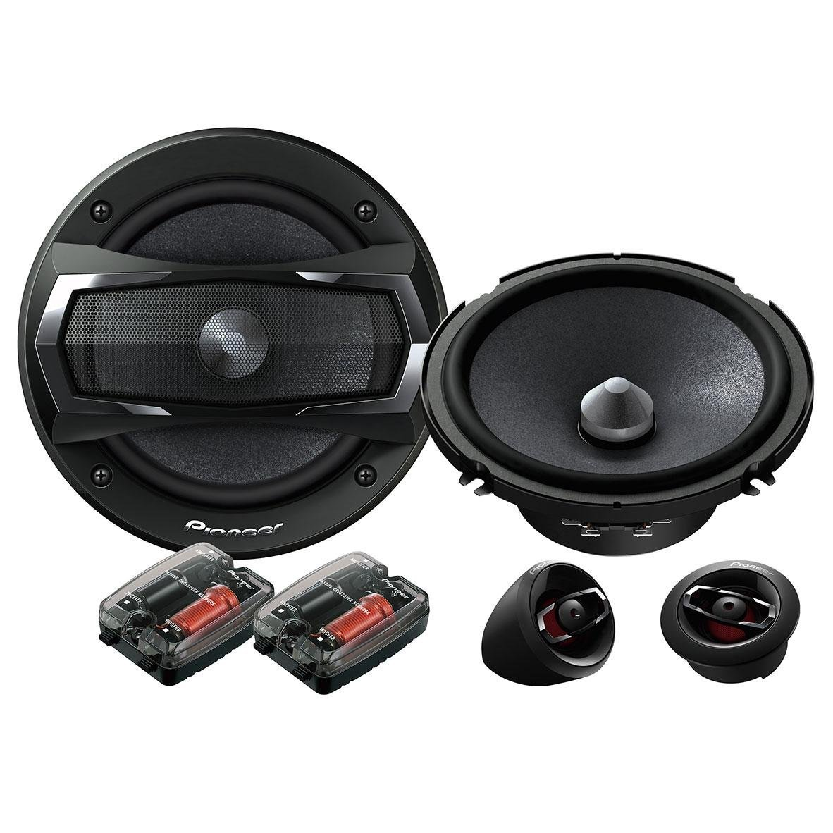 Pioneer TS A173Ci Car Door Speaker | 2 Way Component System | 17 Cm | 350W | 60Rms | Black