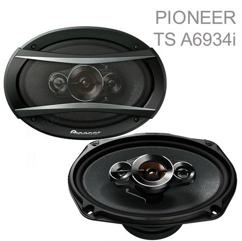 "Pioneer TS A6934i 6x9"" 4 Way 600W Coaxial Shallow Carbon Graphite Car Speakers Thumbnail 1"
