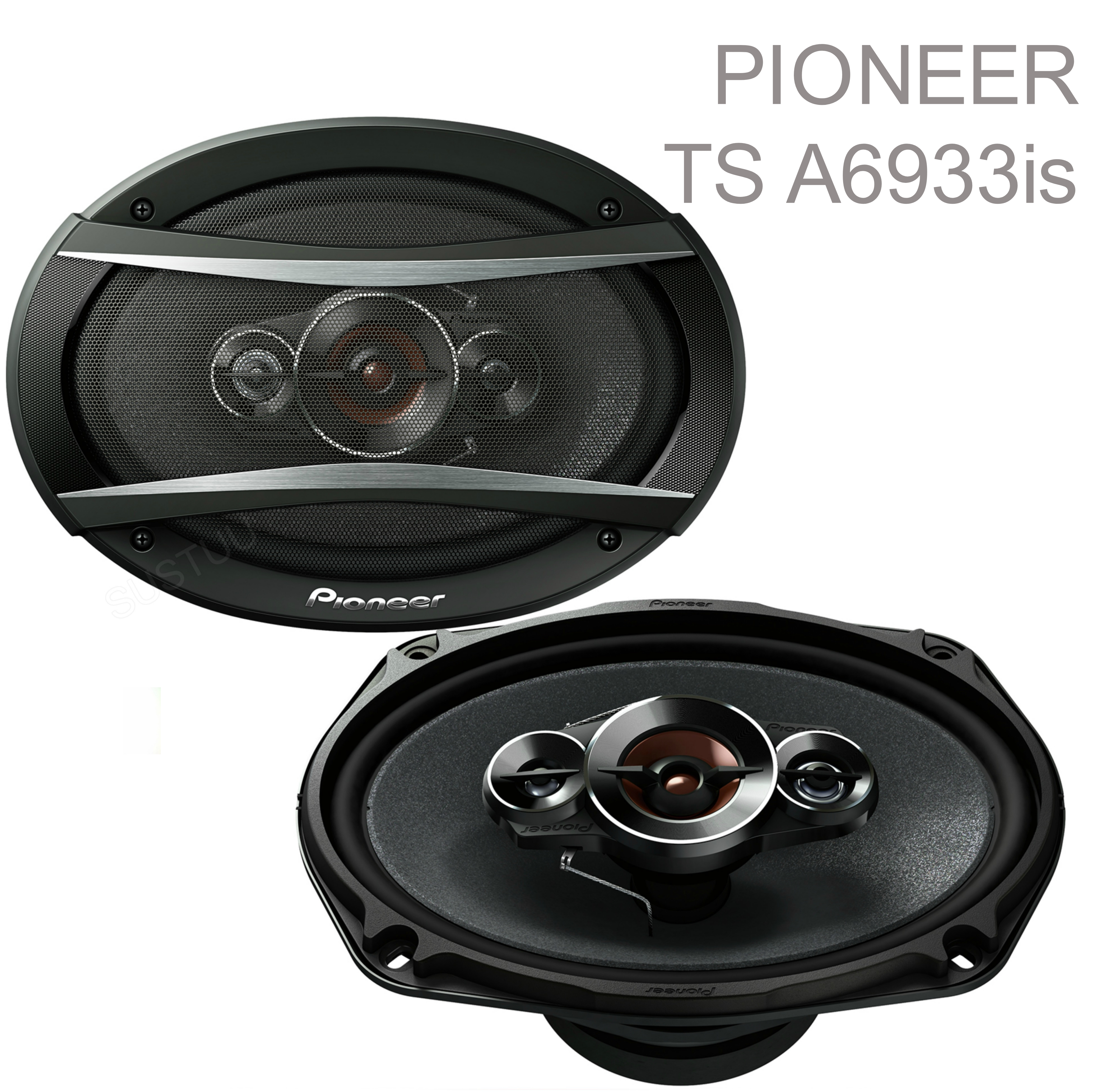 "PIONEER TS A6933is 6x9"" 3 Way Carbon Graphite Coaxial Car Audiol Speaker - NEW"
