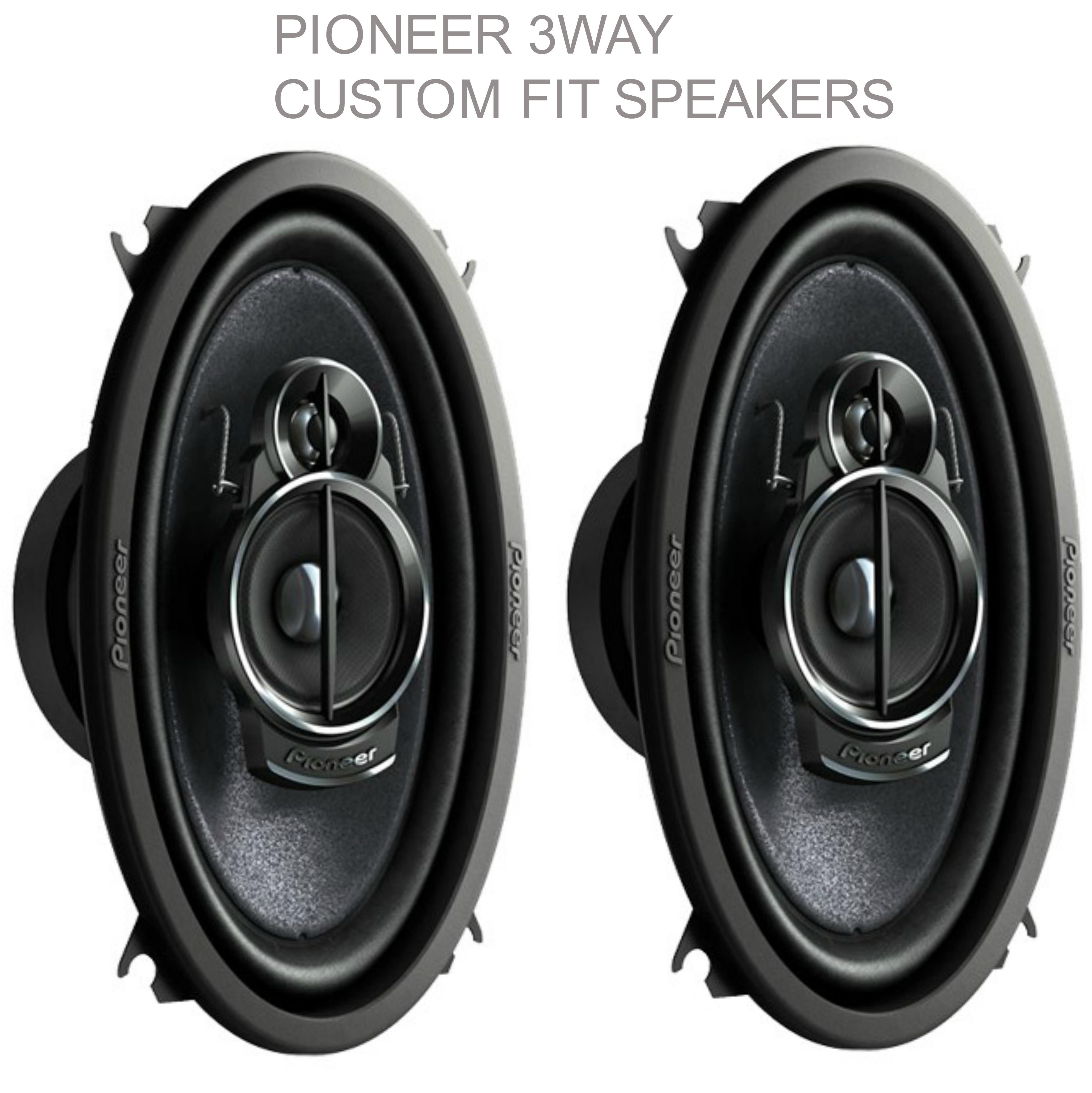 "NEW Pioneer TS A4633i ?3 Way Custom Fit Car Speakers?200w Max?6""x4""?1YR WARRANTY"