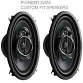 "NEW Pioneer TS A4633i ?3 Way Custom Fit Car Speakers?200w Max?6""x4""?1YR WARRANTY"
