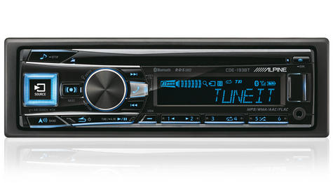 Alpine CDE 193BT Digital Car Media Receiver Radio/Cd/Mp3/Usb/Flac/Aux/Bluetooth Thumbnail 1