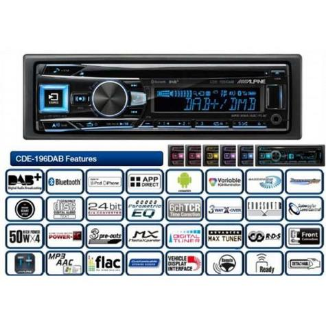 New Alpine CDE-196DAB Car Stereo FM MW LW CD Aux USB Bluetooth Fit Apple Android Thumbnail 4