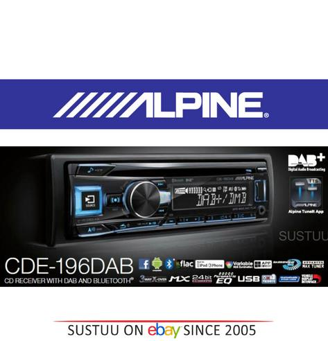 New Alpine CDE-196DAB Car Stereo FM MW LW CD Aux USB Bluetooth Fit Apple Android Thumbnail 2