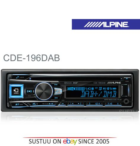 New Alpine CDE-196DAB Car Stereo FM MW LW CD Aux USB Bluetooth Fit Apple Android Thumbnail 1