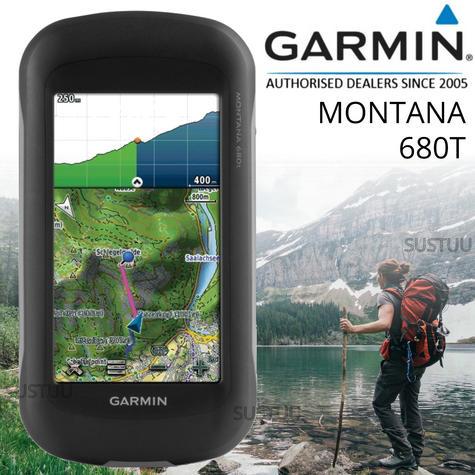 Garmin Montana 680T GPS Handheld Navigator + Europe TOPO Maps & 8MP Camera NEW Thumbnail 1