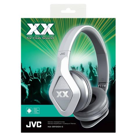 JVC HA-SR100X On-Ear Club Style Headphone|Remote & Microphone|Bass|Silver|NEW Thumbnail 2