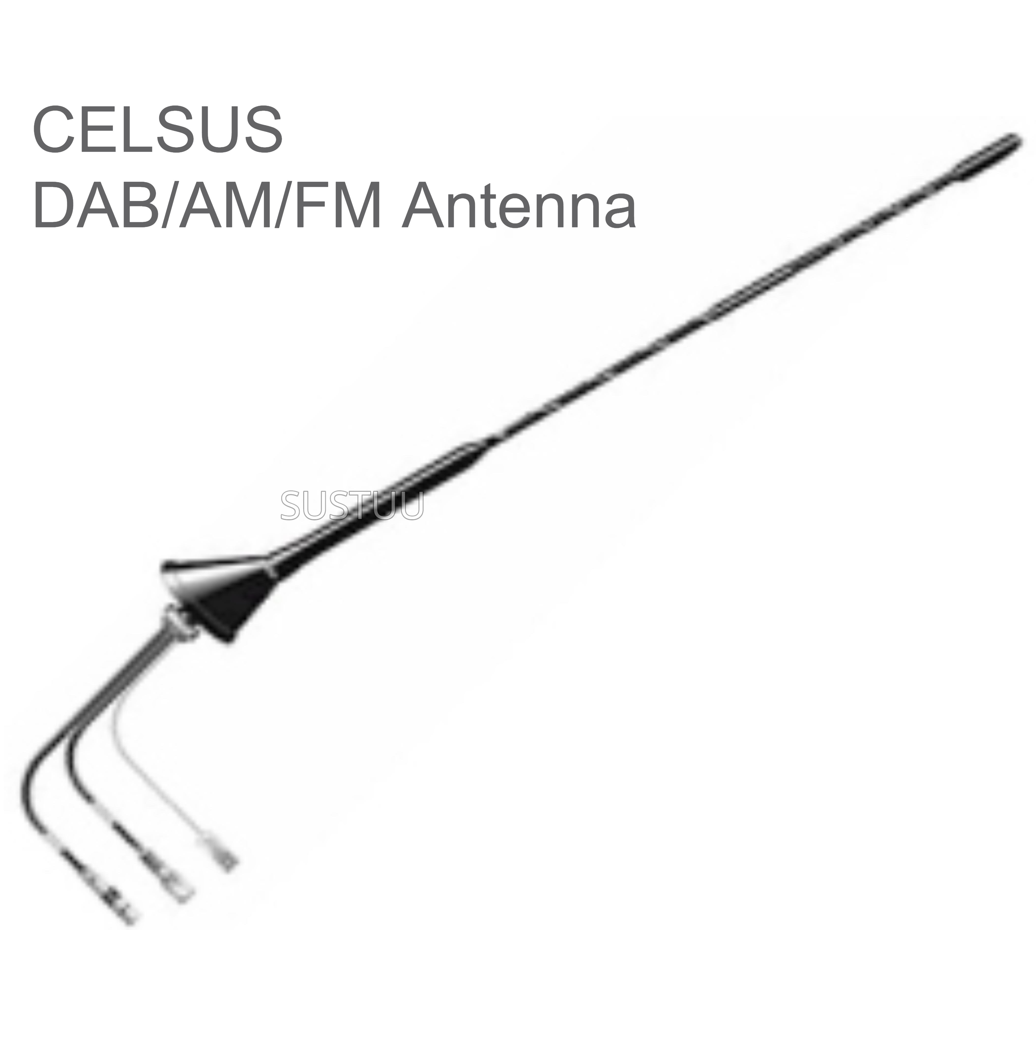 Calearo DAB/AM/FM Antenna | External Roof Mount | Easy to Install | ANC7677932/HAL2