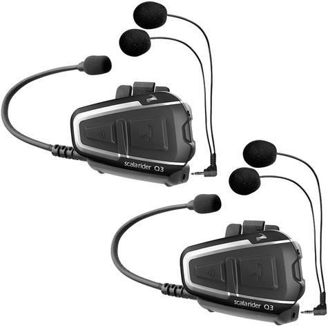 Cardo Scala Rider Q3 MultiSet Headset | Motorcycle / Bike Helmet Intercom System | Black Thumbnail 2