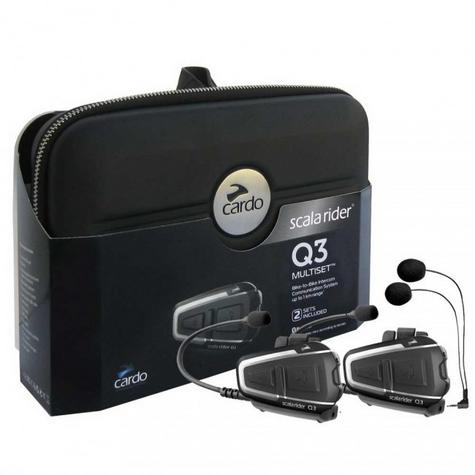 Cardo Scala Rider Q3 MultiSet Headset | Motorcycle / Bike Helmet Intercom System | Black Thumbnail 5
