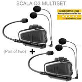 Cardo Scala BTSRQ3MS Multiset Motorcycle Bluetooth Helmet Intercom Headset - NEW