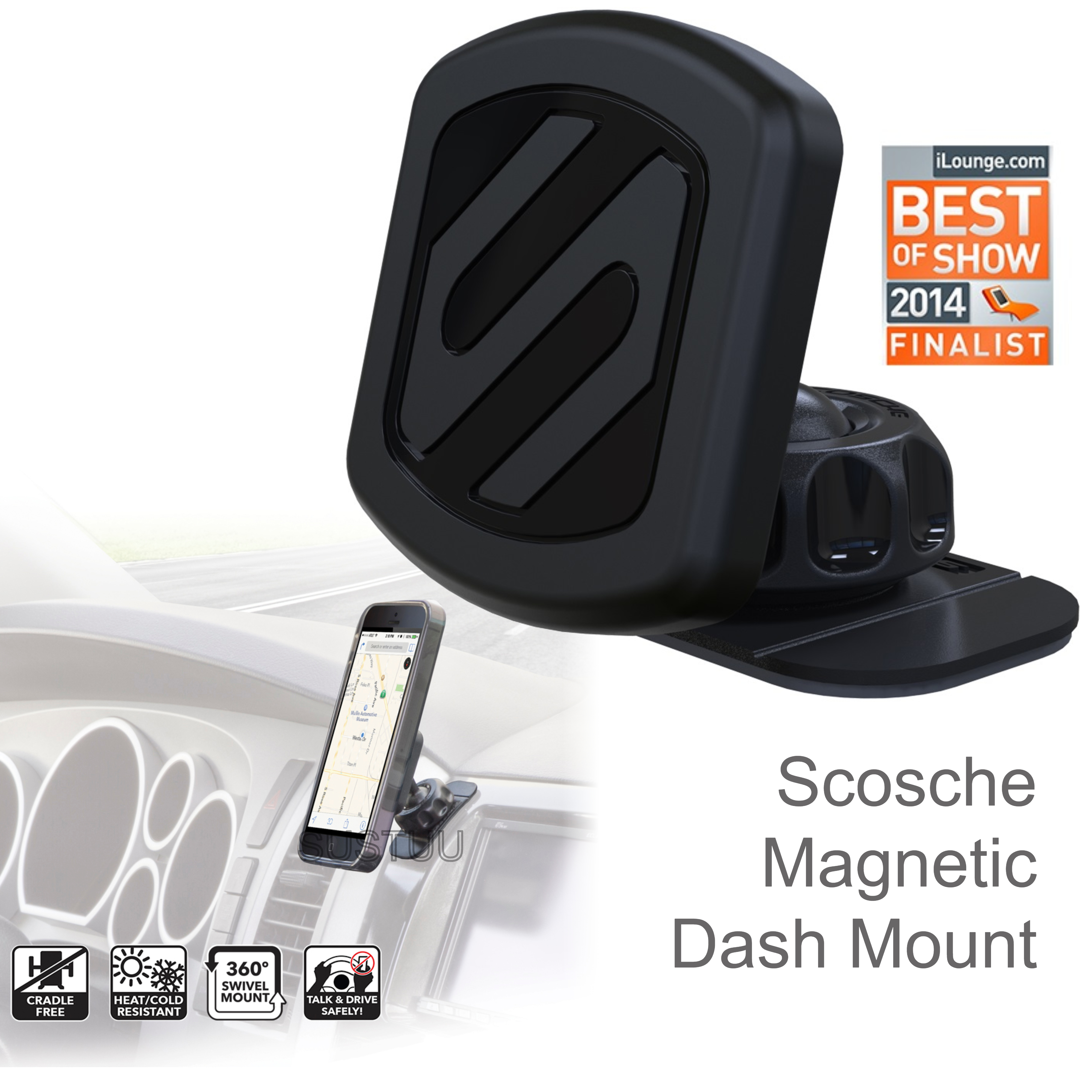 Scosche Universal Magic Mount | Magnetic Car Dash Holder | For iPhone X/XS/XS Max/XR
