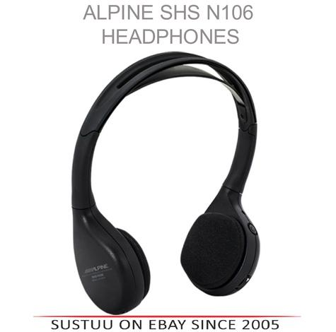 Alpine SHS N106 Single Channel Fold-Flat Infra Red WIRELESS Headphones - NEW Thumbnail 1