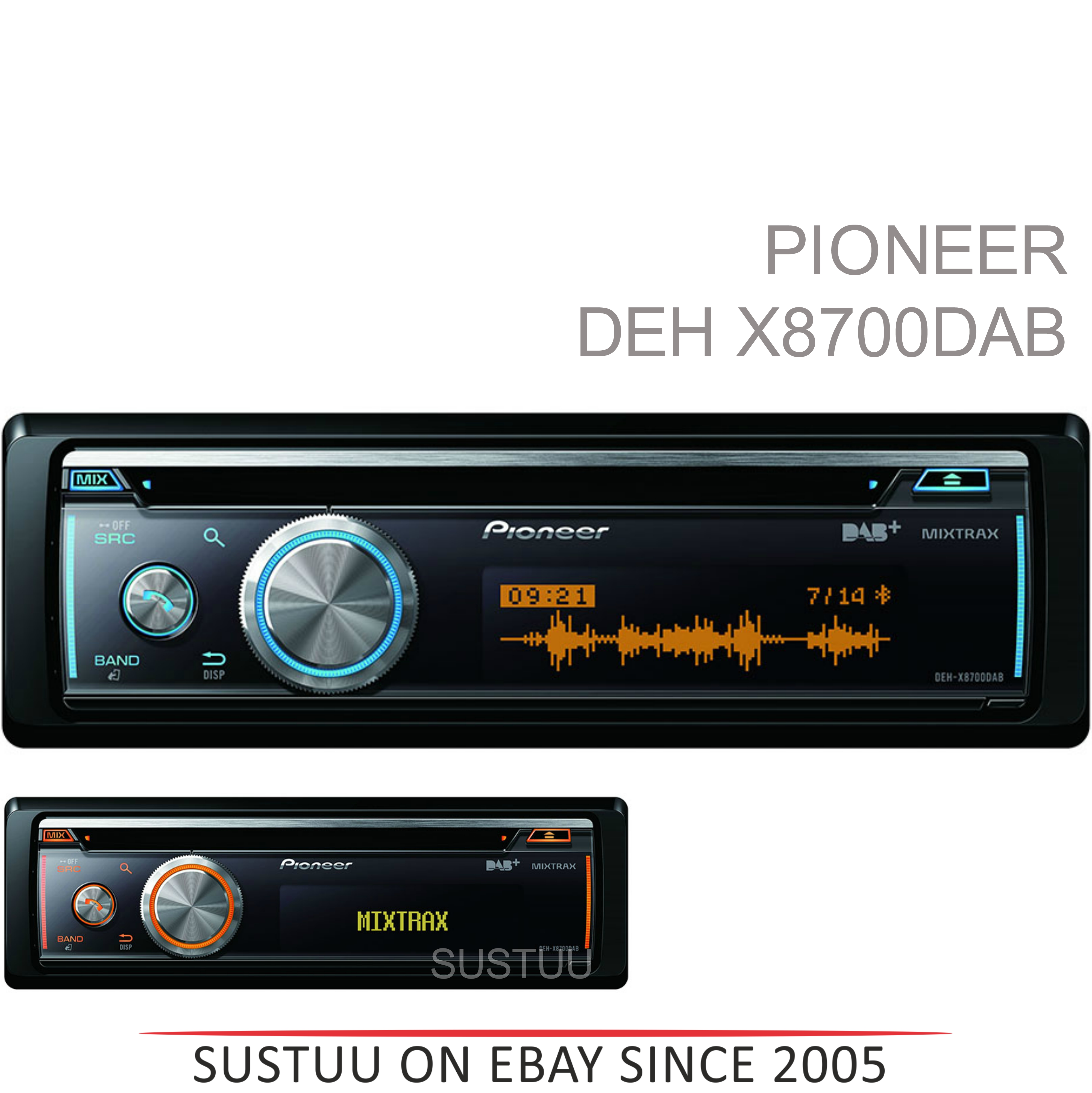 Pioneer DEH X8700DAB In Car stereo|DAB+|CD|USB|Aux|Bluetooth|iPod-iPhone-Android