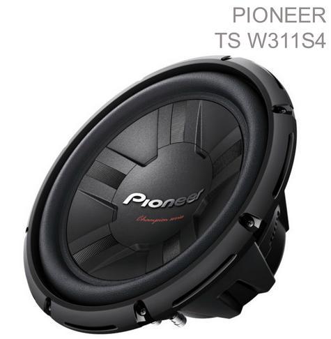 Pioneer 30 cm 4? Enclosure-Type Car Audio Single Voice Coil Subwoofer (1400W)NEW Thumbnail 1