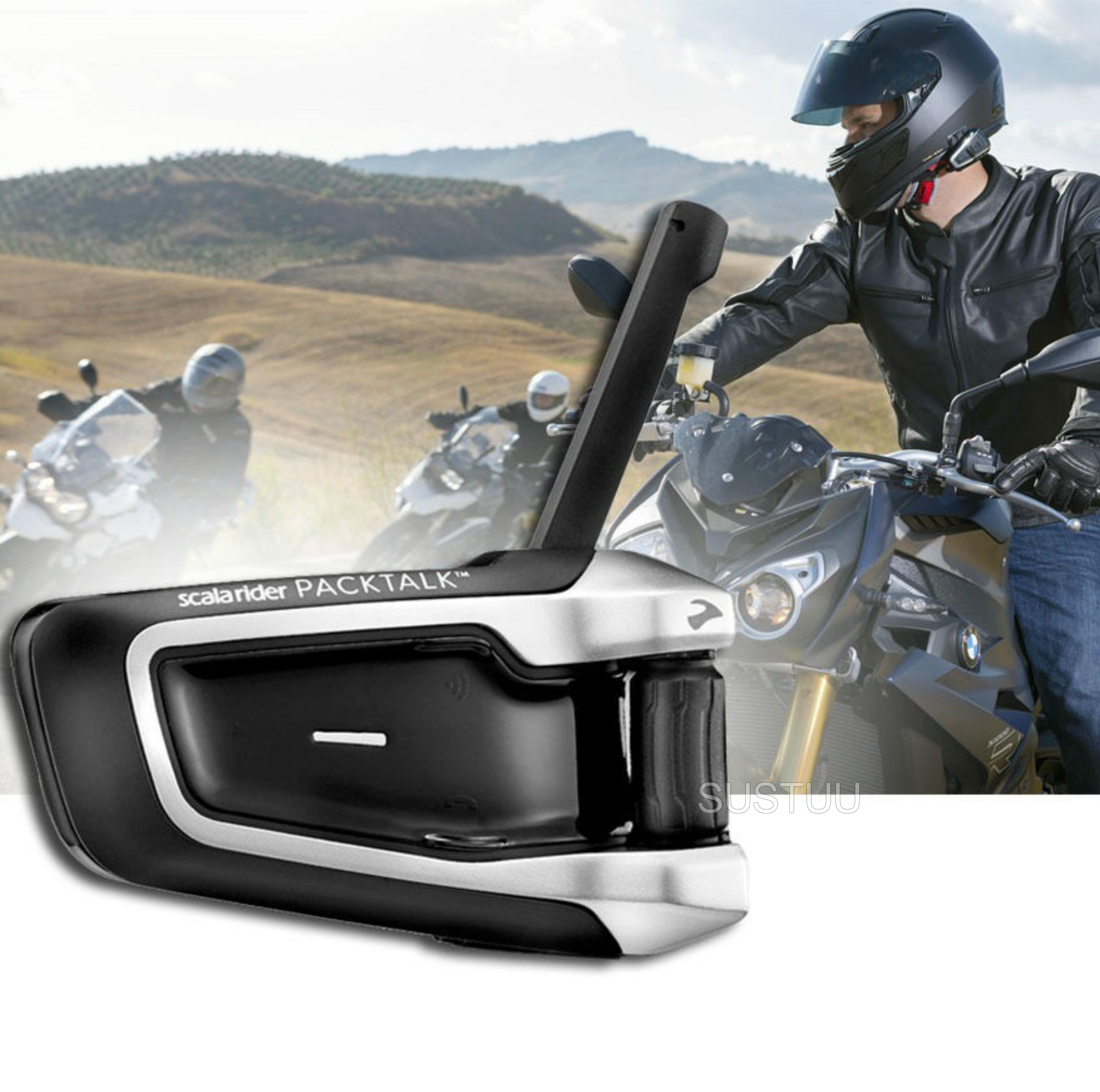 Cardo Scala Rider Packtalk Solo | Motorcycle / Bike Bluetooth Helmet Intercom System