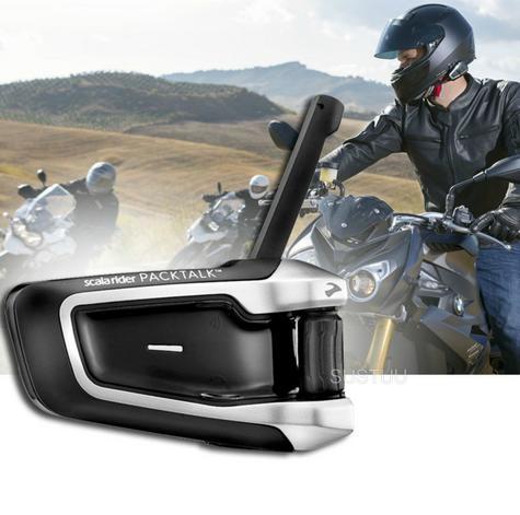Cardo Scala Rider Packtalk Solo | Motorcycle / Bike Bluetooth Helmet Intercom System Thumbnail 1