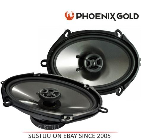 "New Phoenix Gold 2 Way Car Door/Shelf Coaxial Speakers|Z Series|5""x7""