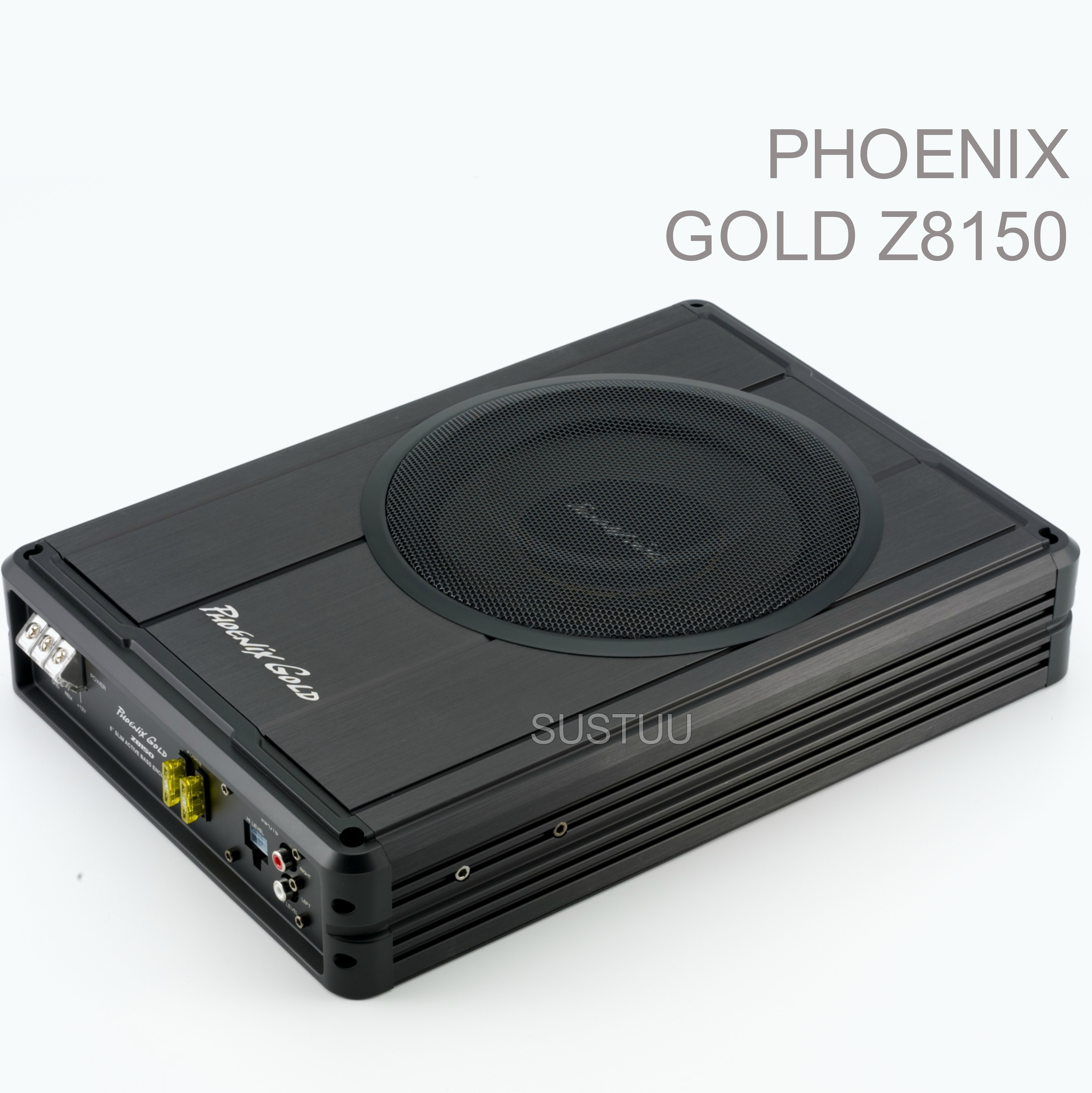 "Phoenix Gold Z8150 8"" Slim Active Underseat Subwoofer with Remote Bass Control"