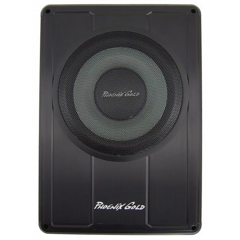 "Phoenix Gold Z8150 8"" Slim Active Underseat Subwoofer with Remote Bass Control Thumbnail 2"