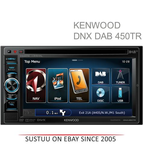 "NEW Kenwood DNX-450TR 6.1"" DVD Receiver Truck/Camper SATNAV Bluetooth DAB Stereo Thumbnail 1"