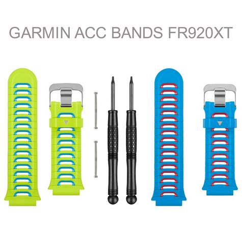 Garmin Replacement Wrist Watch Strap Band | For Forerunner 920XT | Blue & Green | New Thumbnail 1