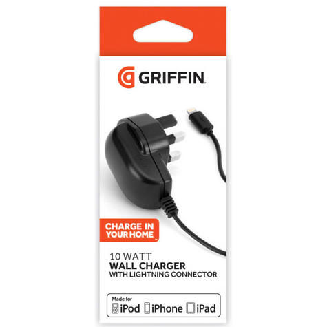 Griffin GC41382  2.1A Wall Charger With Lightning Connector for iPhone/iPod/iPad Thumbnail 2