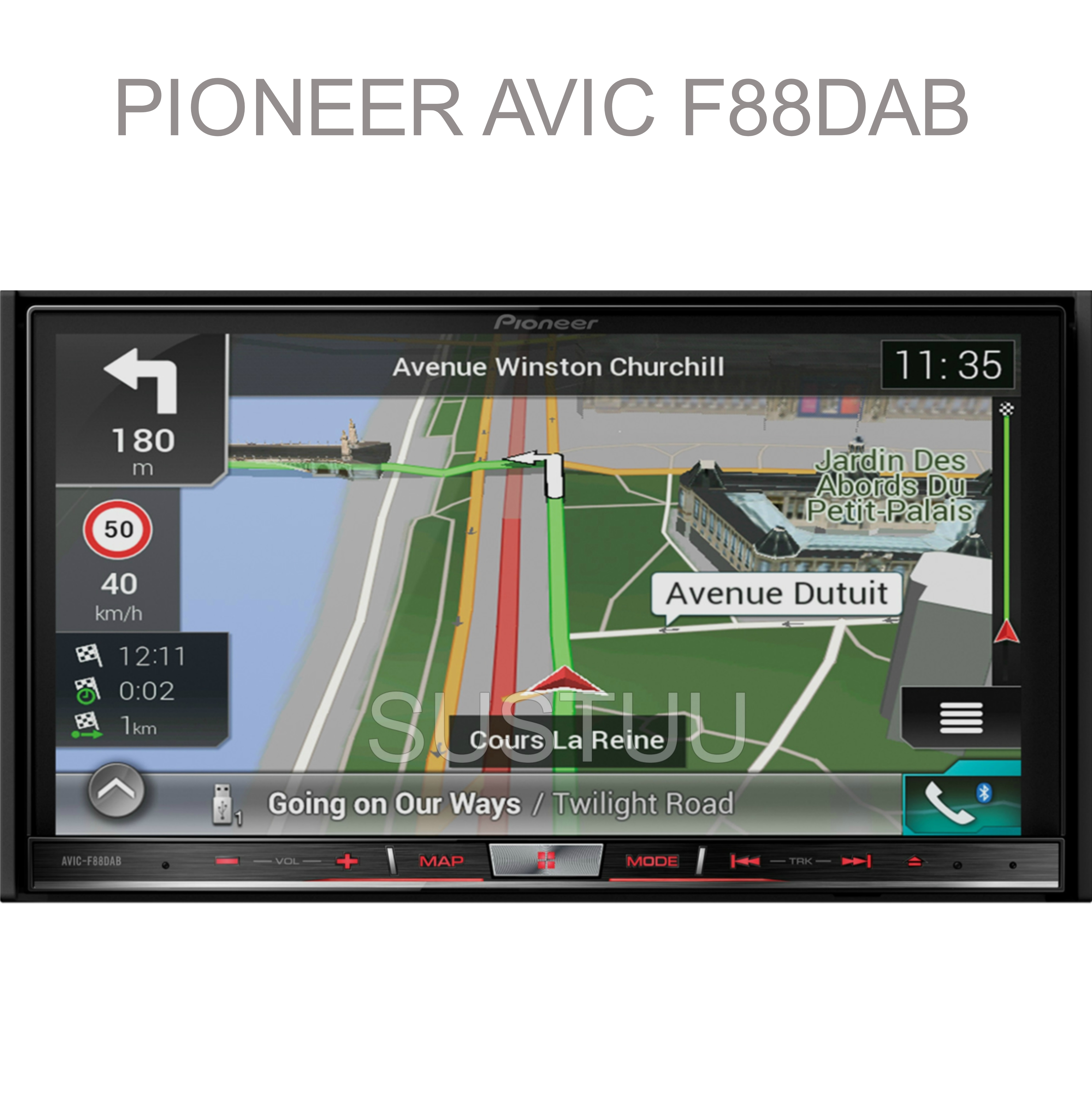 "Pioneer 2DIN 7"" GPS Satnav + DAB Stereo|Apple Car Play-Android Auto|Live Traffic"