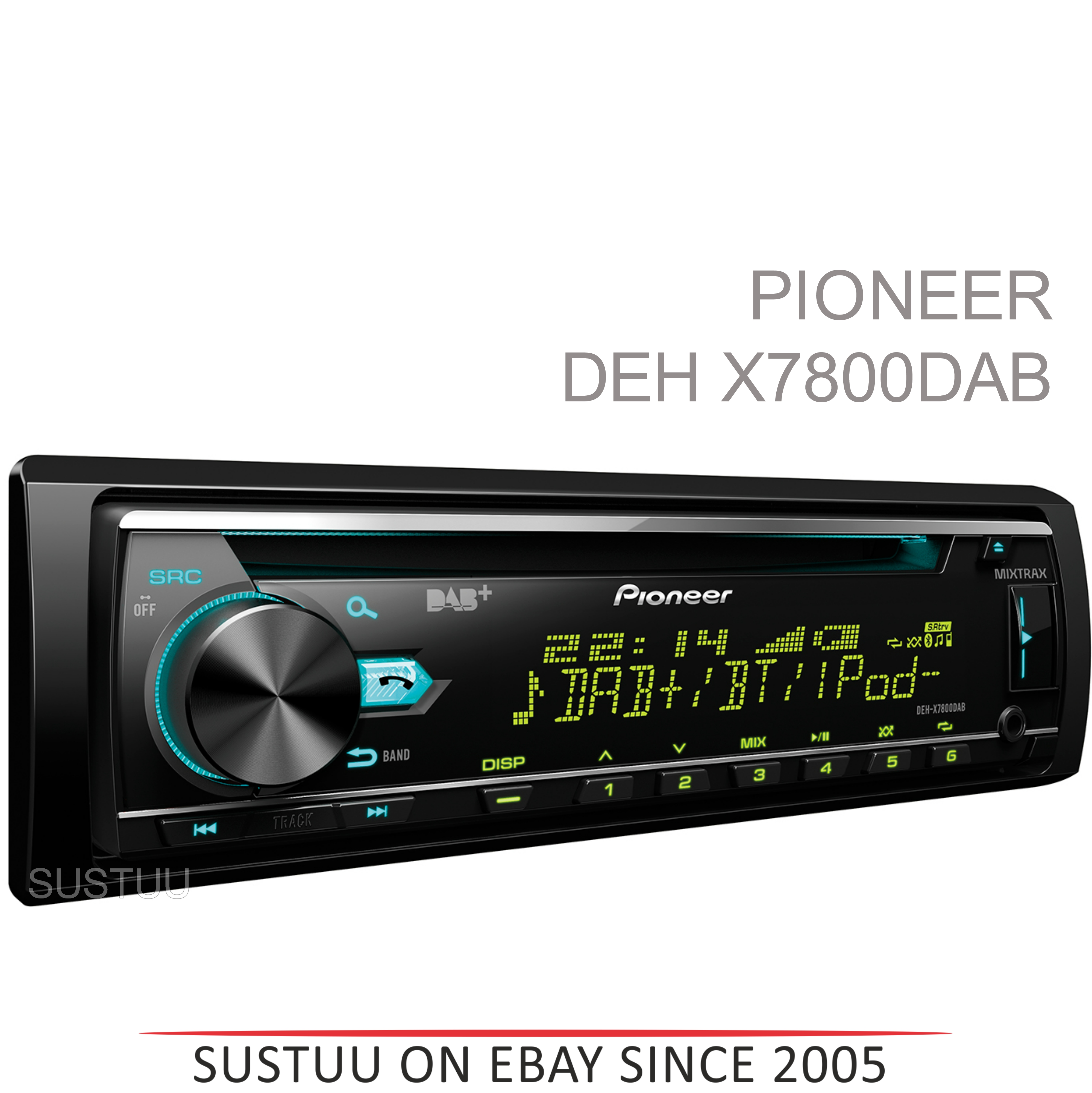 Pioneer DEH X7800DAB Car Stereo|DAB Radio|Bluetooth|USB|Aux|iPod-iPhone-Android
