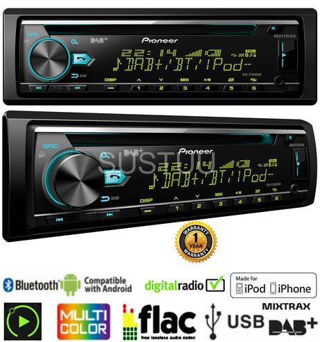 Pioneer DEH X7800DAB Car Stereo|DAB Radio|Bluetooth|USB|Aux|iPod-iPhone-Android Thumbnail 4