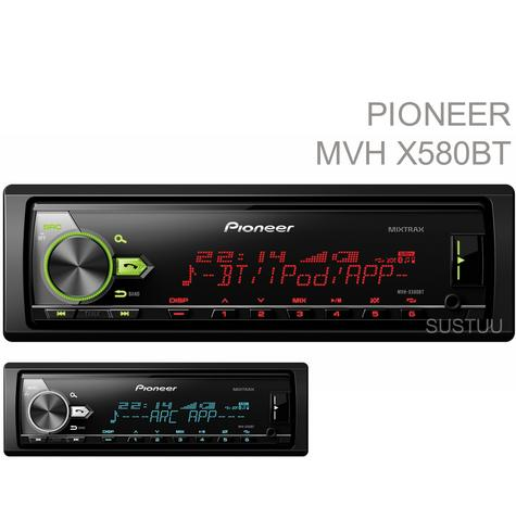 Pioneer Car Stereo/ Headunit|Radio|Bluetooth|USB|Aux|Direct iPod/iPhone Android Thumbnail 1