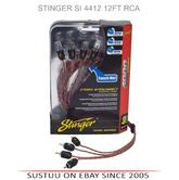 NEW Stinger SI 4412 3.7m 12Ft 4 Channel Amp Car RCA Cable Lead Connector