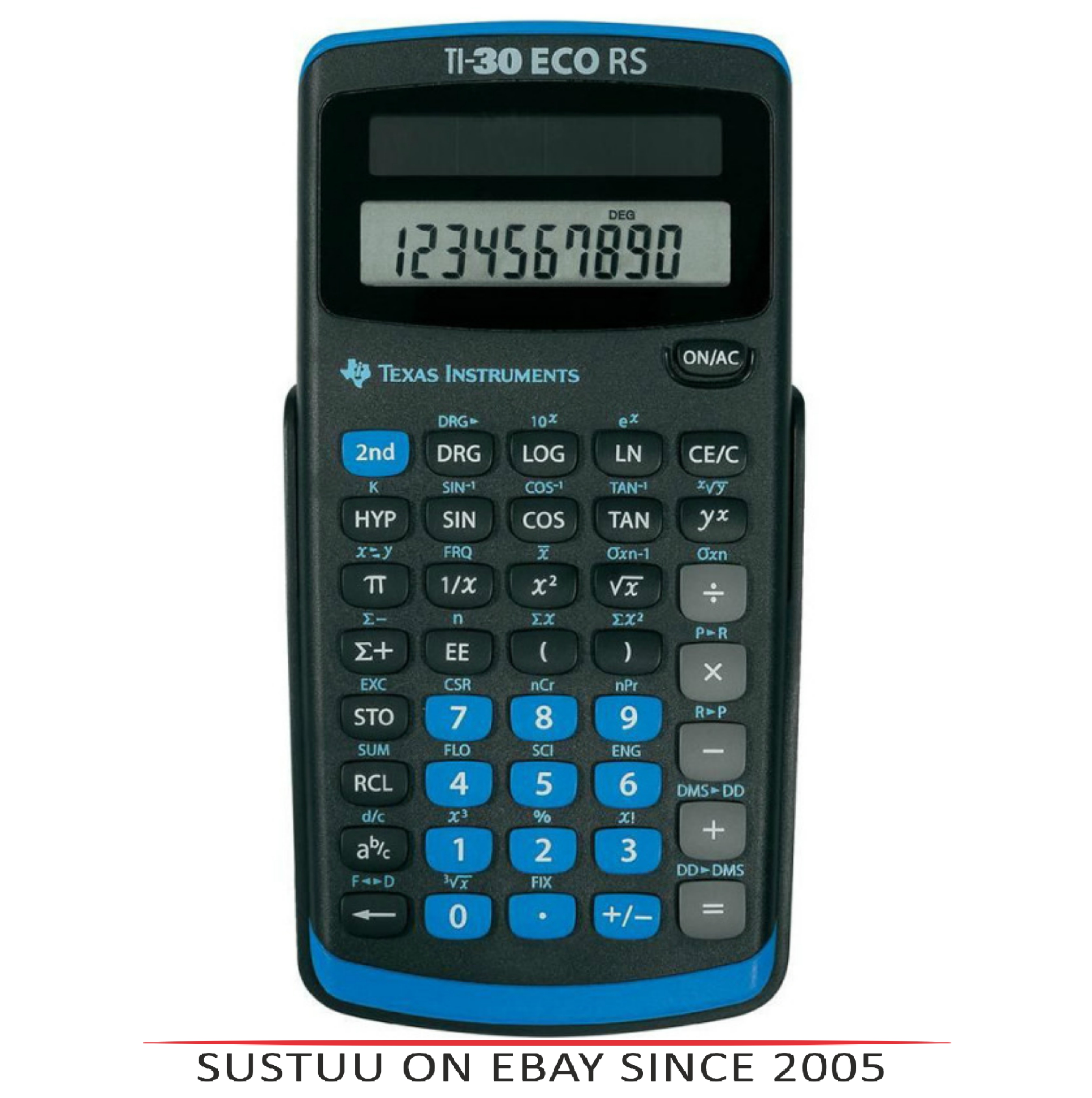 Texas Instruments 30RS/TBL/5E1 Power Scientific Calculator|Solar Battery|10Digit