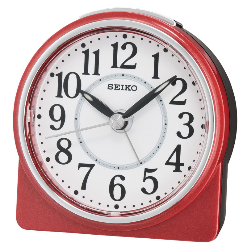 Seiko QHE137R Best Sweep Beep Alarm Clock / Snooze / Analouge Display / Red / NEW